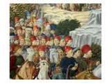 Procession of the Magi: Wall with Lorenzo, detail (Procession with Members of the Medici Family) Giclée-tryk af Benozzo Gozzoli