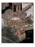 Screen Called 'Coromandel' with Scenes from the Life in the Forbidden Town of Peking: Musicians Giclee Print