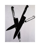 Knives, c.1981-82 (Three Black on Cream) Stampa giclée di Andy Warhol