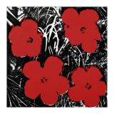 Flowers, c.1964 (Red) Giclée-tryk af Andy Warhol