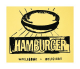 Hamburger, c.1985-86 Reproduction procédé giclée par Andy Warhol