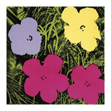 Flowers, c.1970 (1 Purple, c.1 Yellow, 2 Pink) Giclee-vedos tekijänä Andy Warhol