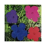 Flowers (Purple, Blue, Pink, Red) Lámina giclée por Andy Warhol