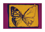 Vanishing Animals: Butterfly, c.1986 (Yellow on Purple) Giclee Print by Andy Warhol