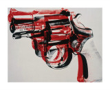 Gun, c.1981-82 (black and red on white) Giclee Print by Andy Warhol
