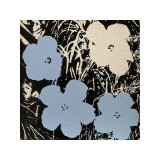 Flowers, c.1965 (Blue, Ivory) Giclee Print by Andy Warhol
