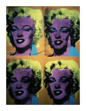 Four Marilyns, c.1962 Impresso gicle por Andy Warhol