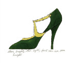 Shoe, c.1955 (Green and Yellow) Giclée-tryk af Andy Warhol