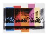 La Cène (détail)|Detail of the Last Supper, vers 1986 Reproduction procédé giclée par Andy Warhol