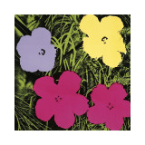 Flowers, c.1970 (1 Purple, c.1 Yellow, 2 Pink) Lmina gicle por Andy Warhol