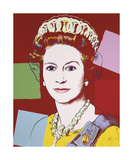 Reigning Queens: Queen Elizabeth II of the United Kingdom, c.1985 (Dark Outline) Lámina giclée por Andy Warhol