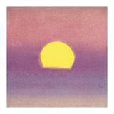 Andy Warhol - Sunset, c.1972 (pink, purple, yellow) Digitálně vytištěná reprodukce