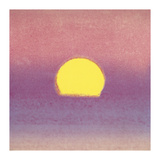 Andy Warhol - Sunset, c.1972 (pink, purple, yellow) - Giclee Baskı