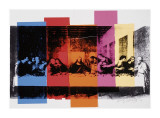 Detail of the Last Supper, ca. 1986 Giclée-tryk af Andy Warhol