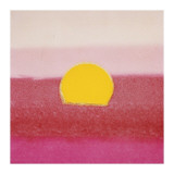 Sunset, c.1972 (hot pink, pink, yellow) Giclée-tryk af Andy Warhol