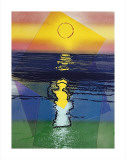 Sunset, c.1972 Lmina gicle por Andy Warhol