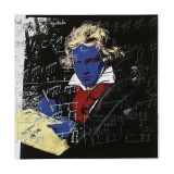 Beethoven, c.1987 (blue face) Lmina gicle por Andy Warhol