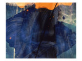Abstract Image in Blue and Orange Giclee Print by Daniel Root