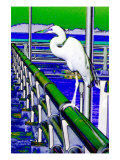 Egret Perched, Florida Giclee Print by Rich LaPenna