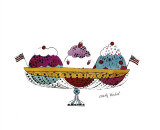 Ice Cream Dessert, c.1959 (Three Scoops) Giclée-tryk af Andy Warhol