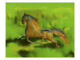 Regal Stallion in Field Giclee Print by Rich LaPenna