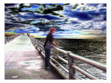 Young Man Looking Out to Sea Giclee Print by Rich LaPenna
