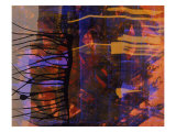 Abstract Image in Black, Blue, and Red Giclee Print by Daniel Root