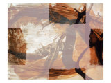 Abstract Image in Brown and White Giclee Print by Daniel Root
