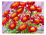 Bouquet of Asters Giclee Print by Rich LaPenna