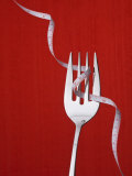 Fork with Measuring Tape Wrapped around It Photographic Print by Laura Johansen