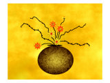 Large Vase with Floral Arrangement Giclee Print by Rich LaPenna