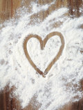 Heart Shape in Flour Photographic Print by Neil Overy