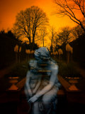 Ghostly Mother and Child in Garden Photographic Print by Abdul Kadir Audah