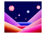 Layers of Space and Moons Giclee Print by Rich LaPenna