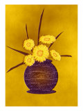 Vase of Five Yellow Flowers Giclee Print by Rich LaPenna