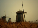 Moody Landcsape,Windmills in the Netherlands Photographic Print by Abdul Kadir Audah