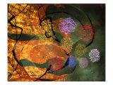 Abstract Image Green, Red, and Yellow Giclee Print by Daniel Root