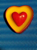 A Love Stone Heart with Blue Background Photographic Print by Abdul Kadir Audah
