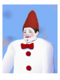 Portrait of Happy Clown Giclee Print by Rich LaPenna