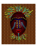 Mask with Party Theme Giclee Print by Rich LaPenna