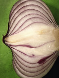 Close-Up of Half of a Red Onion Photographic Print by Tina Chang