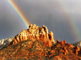 Rainbow over Snoopy Rock, Sedona, Arizona, USA Photographic Print by Margaret L. Jackson