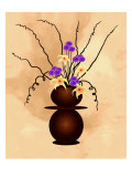 Purple Flowers with Starlilies in Fantasy Vase Giclee Print by Rich LaPenna