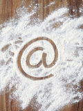@' Symbol in Flour Photographic Print by Neil Overy