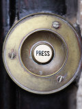 Old Door Bell Button Photographic Print by Neil Overy