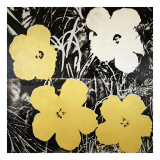 Flowers, c.1966 (Yellow and White) Lámina giclée por Andy Warhol