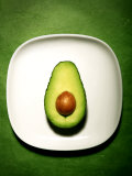 Half an Avocado on a White Plate Photographic Print by Tina Chang