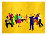 Big Jazz Band Performing Giclee Print by Rich LaPenna