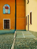 A Square in Baveno, Lake Maggiore, Italy Photographic Print by Claire Morgan