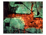 Abstract Image in Red and Green Giclee Print by Daniel Root